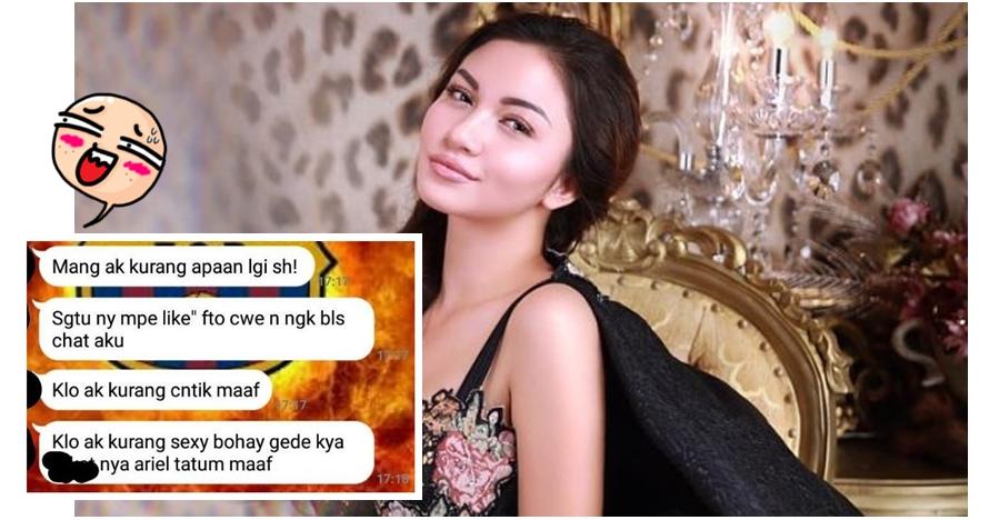 Percakapan cowok diputusin gara-gara nge-like foto Ariel Tatum, kocak!