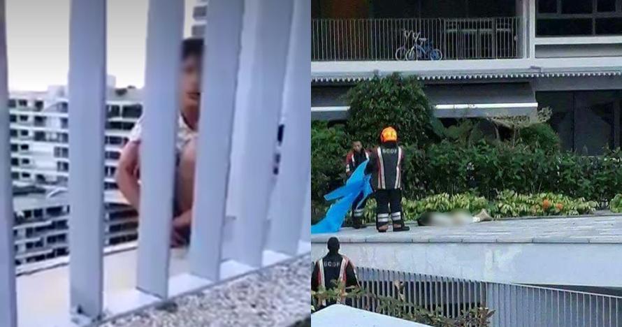 Detik-detik PRT bunuh diri dengan melompat gedung ini viral