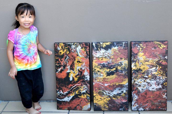 Gemar melukis, gadis 5 tahun ini jual 100 karyanya untuk amal