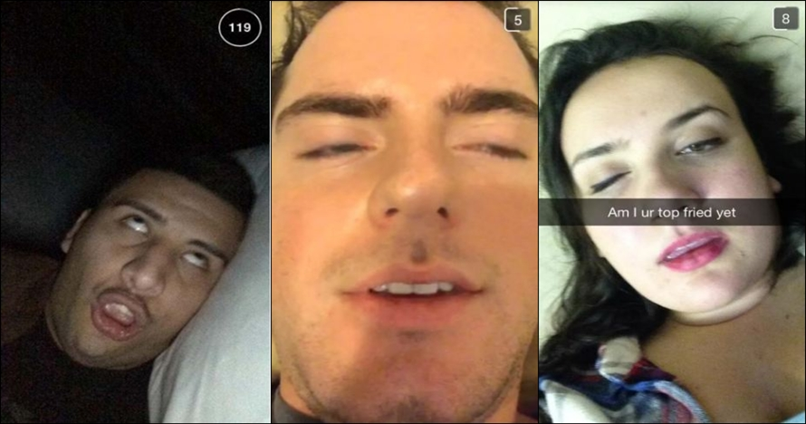 8 Tingkah kocak ketika orang mabuk main Snapchat