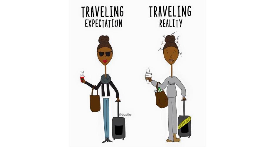 10 Ekspektasi vs realita rencanain liburan bareng teman se-geng