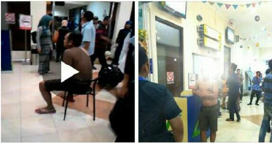 Sopir taksi online dihukum buka baju di Bandara Yogyakarta
