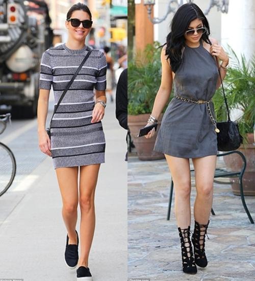 beda gaya Kendall dan Kylie  © 2017 berbagai sumber