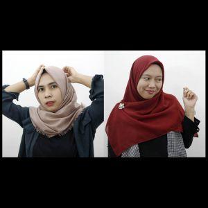 9 Tutorial hijab segi empat simpel cocok bagi yang belajar berjilbab