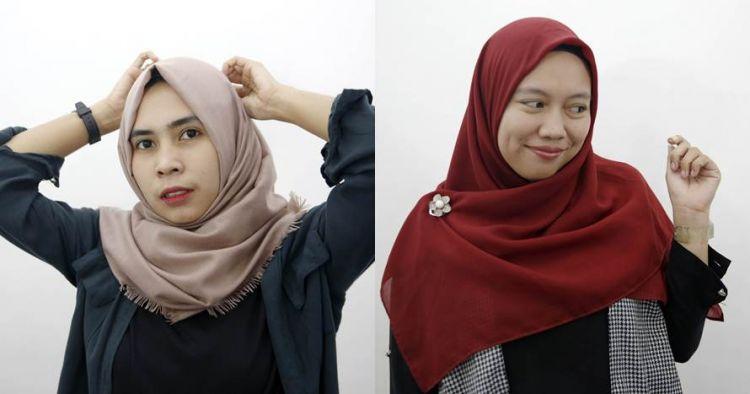 9 Tutorial Hijab Segi Empat Simpel Cocok Bagi Yang Belajar Berjil