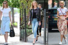 10 Ide outfit casual ala Karlie Kloss, programmer yang juga supermodel