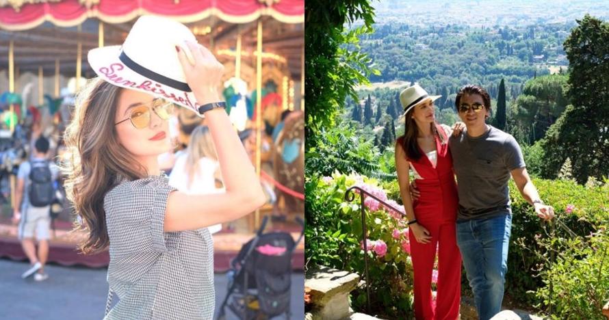 10 Foto Luna Maya dan Reino rayakan Lebaran dengan berlibur ke Italia