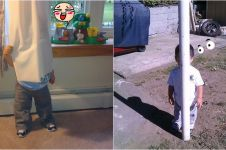 20 Foto kocak anak kecil main petak umpet, pada sembunyi dimana tuh?