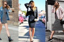 10 Mix & match bodycon dress, bikin gaya casualmu makin seksi & kece