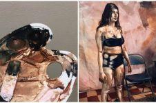 Cewek ini rias tubuh sang model bak lukisan, hasilnya memukau