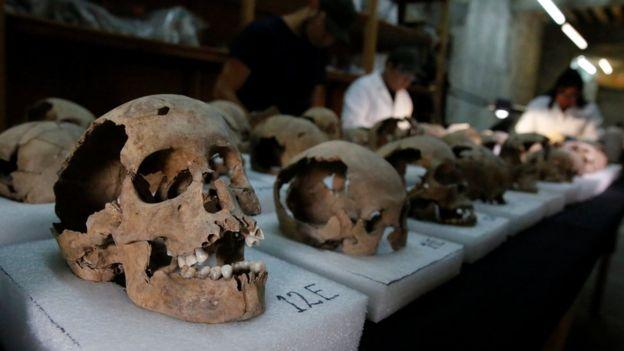 Arkeolog temukan menara dari tengkorak manusia Suku Aztec