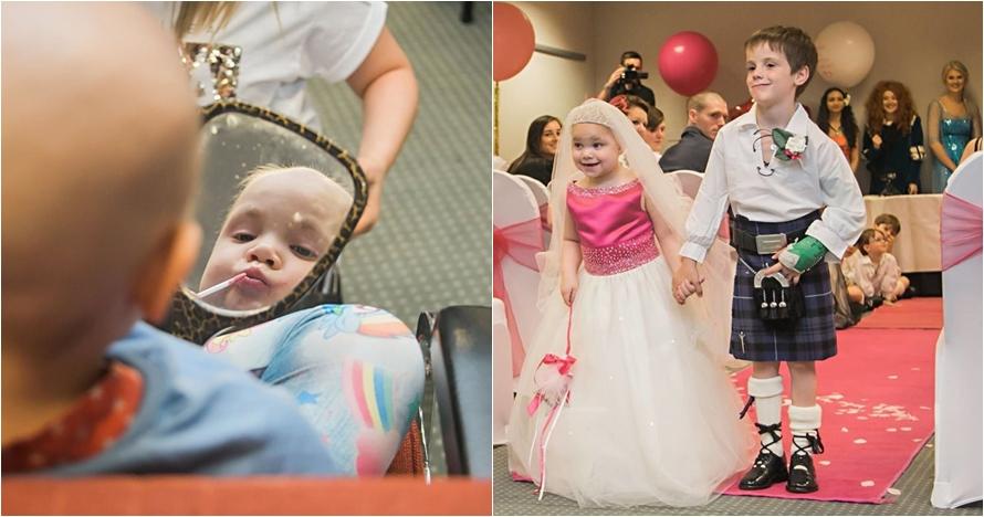 Nikah di usia 5 tahun, kisah cinta gadis idap kanker ini buat terenyuh