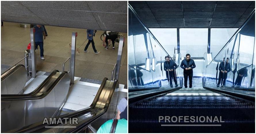 Begini beda hasil jepretan fotografer profesional vs amatir