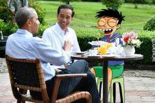 Begini jadinya saat si Juki ikut nimbrung bareng Obama di Istana Bogor
