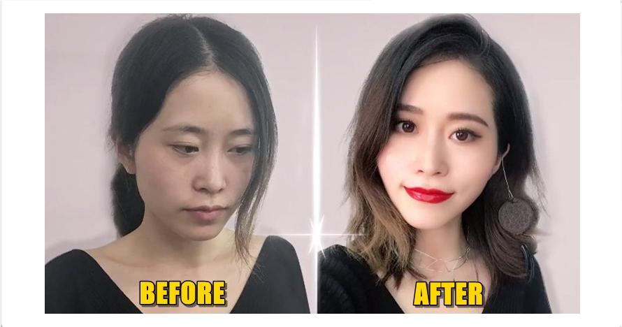 Wanita ini tampil cantik dengan makeup berbahan makanan, kreatif