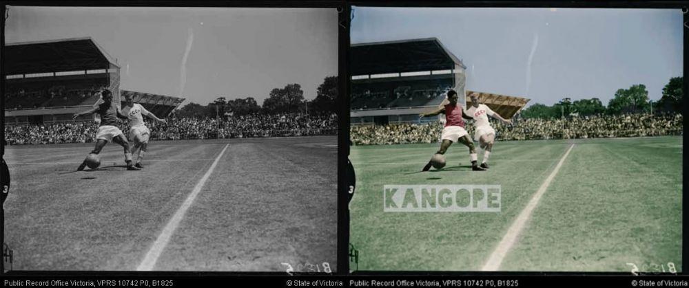 10 Foto lawas sepak bola Indonesia ini diwarna ulang, jadi makin