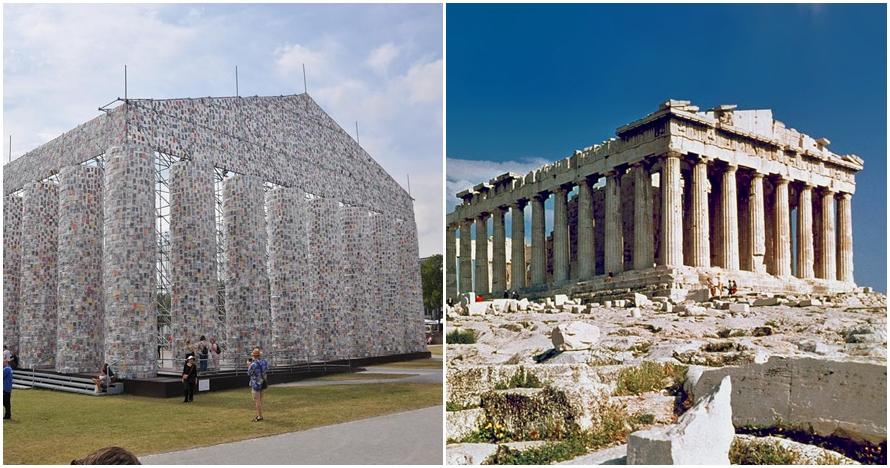 Replika bangunan bersejarah ini dibuat menggunakan 100.000 buku, wow!