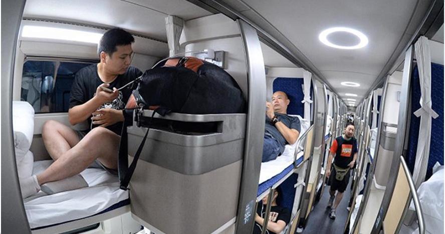 Kereta di China ini jadi hotel berpindah paling cepat di dunia