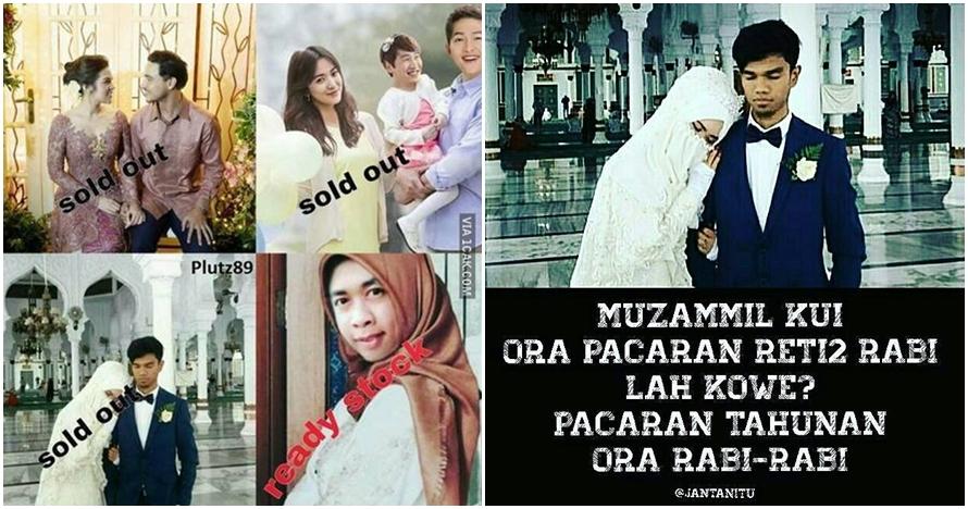 10 Meme 'Muzammil nikah' ini kocak sekaligus bikin baper parah