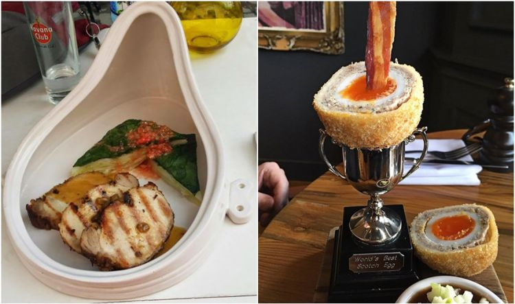 12 Penyajian makanan restoran paling absurd, jadi nggak doyan makannya