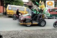 Heboh video driver Gojek nikah diarak keliling kampung