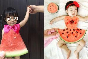Ganti baju bayi & dewasa pakai semangka, tren ini juga viral di Jepang