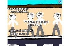 Komik strip 'Batal Tawuran' ini endingnya bikin kamu tersenyum lepas