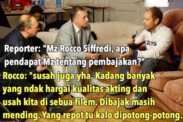 Obrolan ngawur Rocco Siffredi dan reporter soal pembajakan film