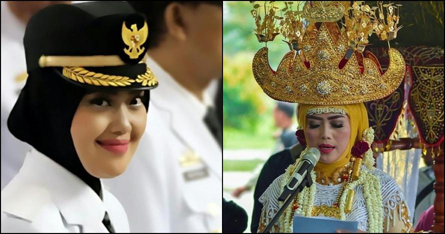 10 Foto Bupati Lampung Timur, hijaber cantik yang gemar blusukan