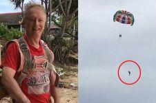 Turis ini terekam kamera saat jatuh bermain parasailing, ngeri banget