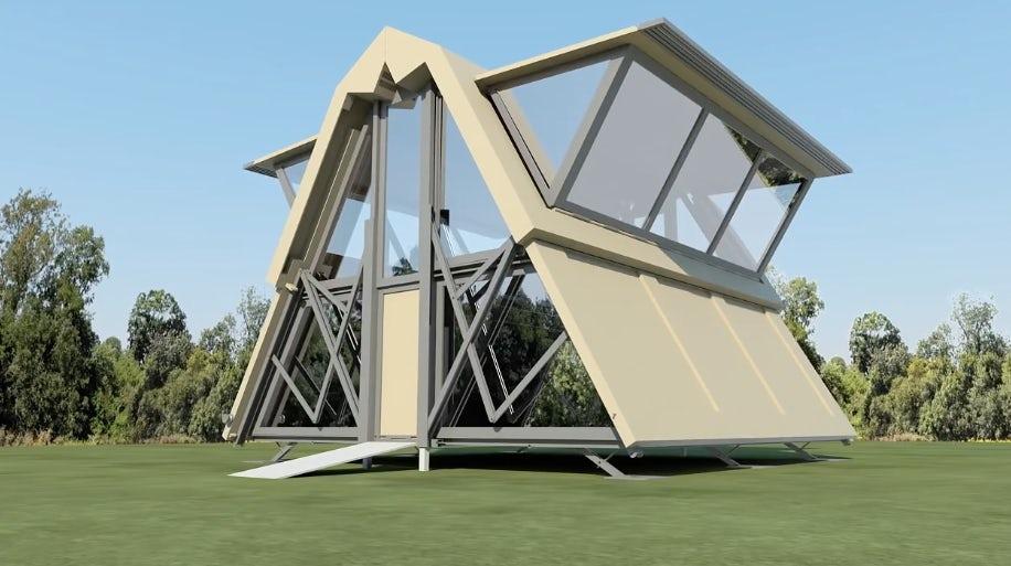 Rumah ini bisa dilipat & dipindah dalam hitungan menit, keren & unik