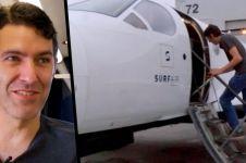 Pria ini berangkat kerja naik pesawat tiap hari, luar biasa