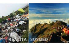 10 Potret media sosial vs realita para pendaki gunung