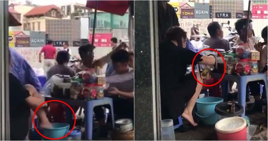 Video penjual gunakan air bekas cuci kaki untuk minuman ini bikin mual