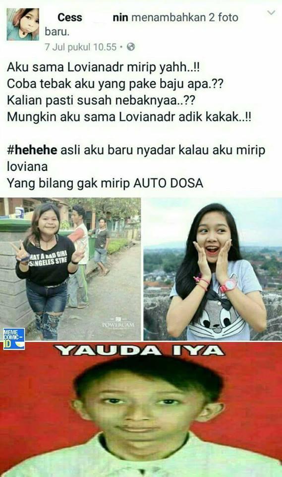 meme anak kekinian © 2017 facebook.com/MemeAndRageComicIndonesia