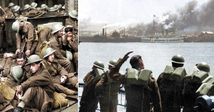 9 Potret evakuasi Dunkirk ini dibuat berwarna, dramatis abis!