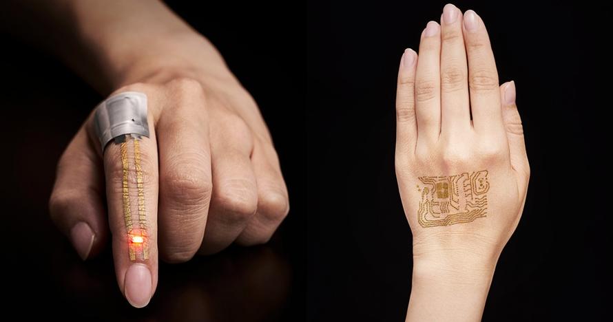 Sensor kesehatan kulit ini mirip tato temporer lho, keren