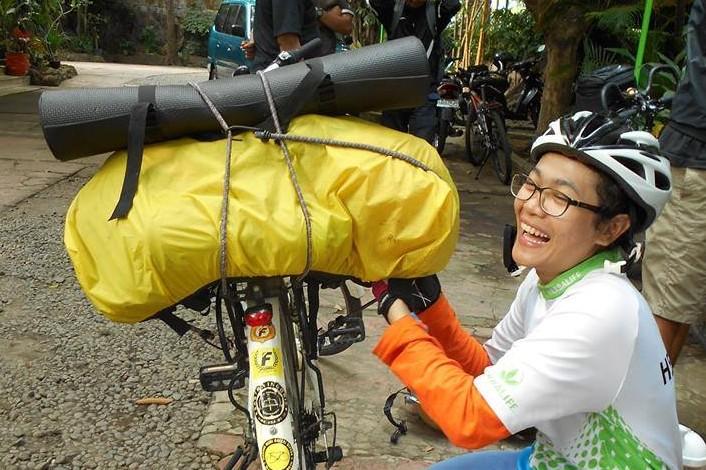 Pernah taklukkan Jogja-Bali, cewek ini siapkan bersepeda lintas negara