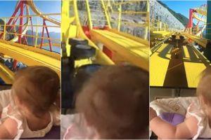 Sekilas bayi ini main roller coaster, tapi faktanya bikin terkesima