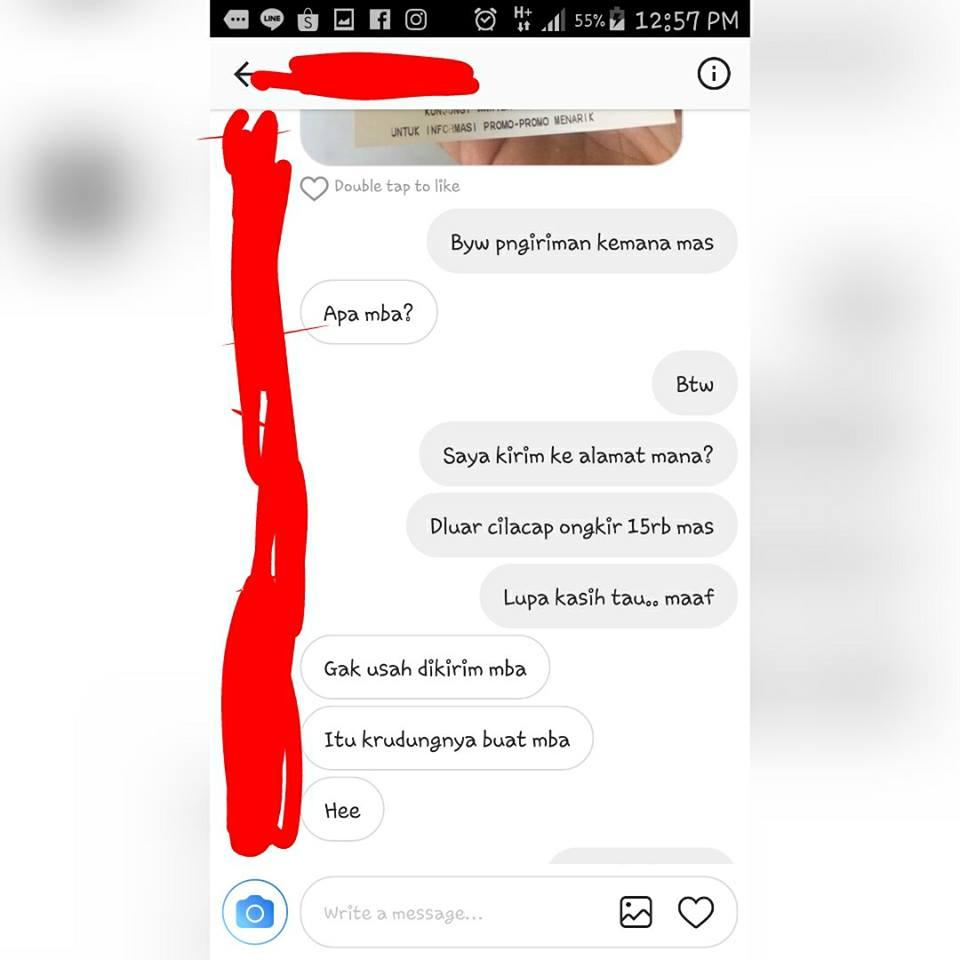 percakapan penjual jilbab olshop © 2017 brilio.net