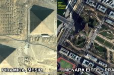 Begini penampakan 10 landmark dunia saat dipotret menggunakan satelit