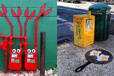20 Potret street art ini padukan benda sekitar jadi karya seni unik
