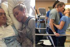 Divonis berumur pendek, pria ini bangun dari koma lalu cium sang istri
