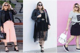 10 Ide outfit plus size ala Nicolette Mason, kece tak pandang kilogram