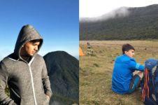 10 Foto Sahrul Gunawan naik gunung setelah tak jadi nikah
