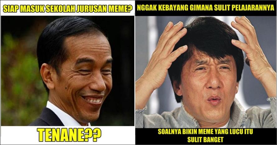 7 Meme 'sekolah meme ala Jokowi' ini kocaknya minta ampun