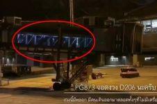 Video 'orang' keluar dari garbarata padahal tak ada pesawat ini serem
