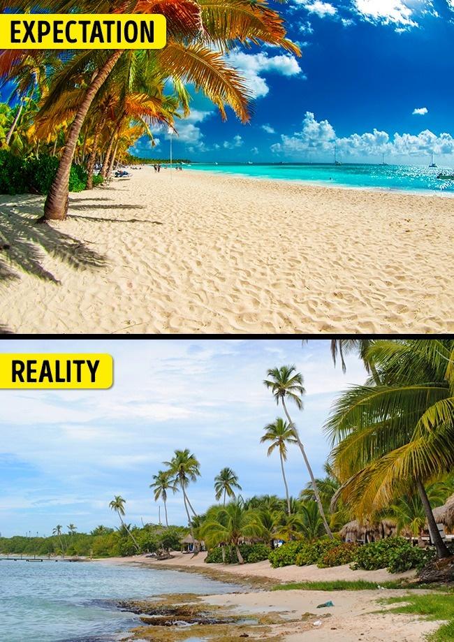ekspektasi realita liburan © 2017 brightside.me