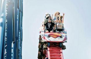 Pasangan ini menikah sambil naik roller coaster