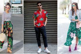 10 Padu padan tropical print item yang lagi ngehits, makin trendi nih